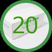 C- 20 Foot-Sox Dispenser Boxes